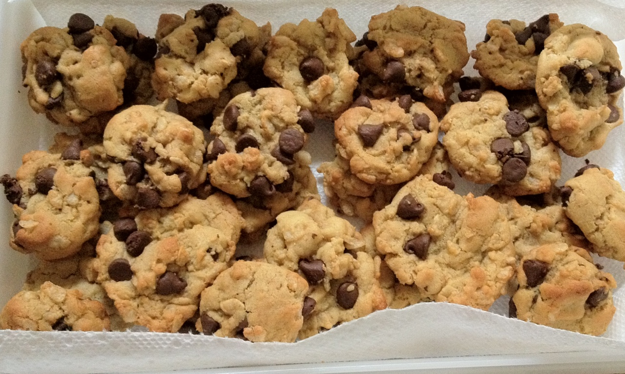 Good food recipes » Crunchy chocolate chip cookies recipe