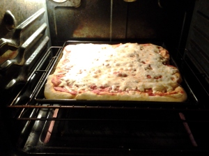 Cheese pizza a la Carla.