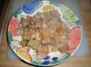 Hawaiian Pork on Rice