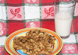 Oatmeal Cookies, Milk