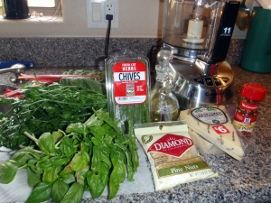 Ingredients, Swiss Chard, Basil, Pesto, Connie Cockrell