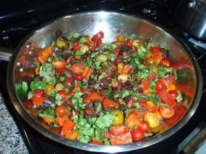 Saute, Cherry Tomatoes, Basil