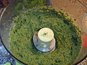 Finished Swiss Chard and Basil Pesto
